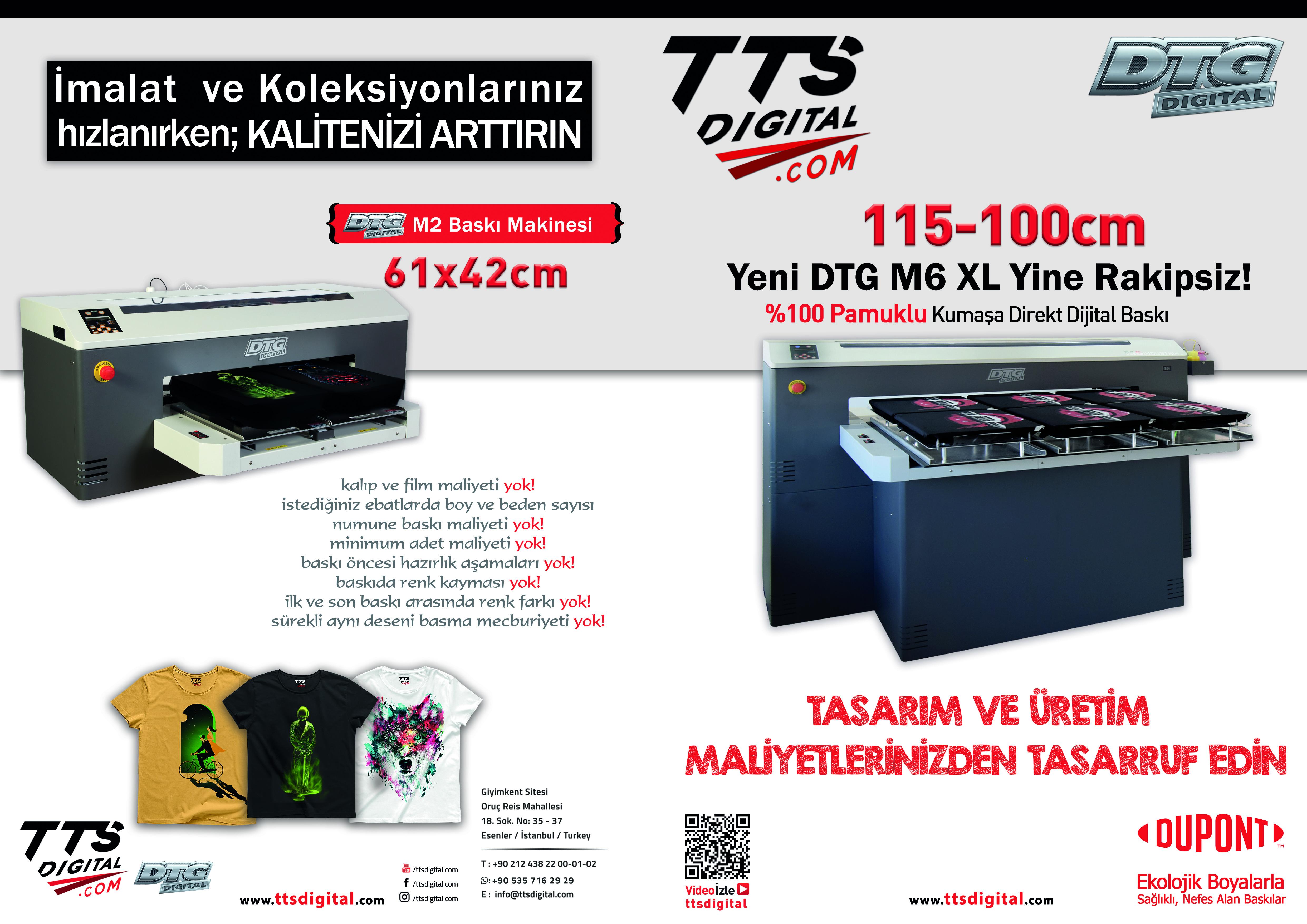 dijital baski makinesi dtg m2 tts digital
